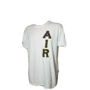 Nike Air Spellout Jordan Brand White Shirt Mens Raised Letters Womens XL Mens LG